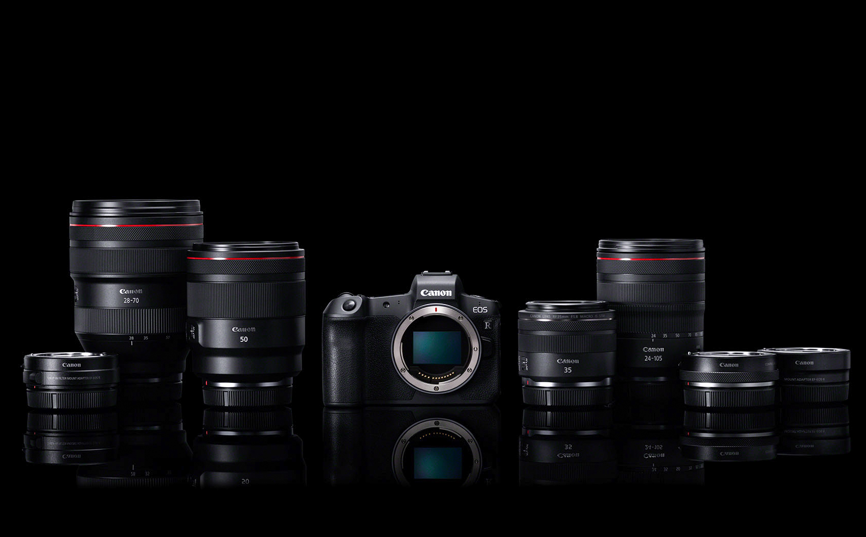 Canon släpper nu sin första spegellösa kamera med småbildssensor – EOS R – och introducerar även fyra nya RF-objektiv samt flera adaptrar.