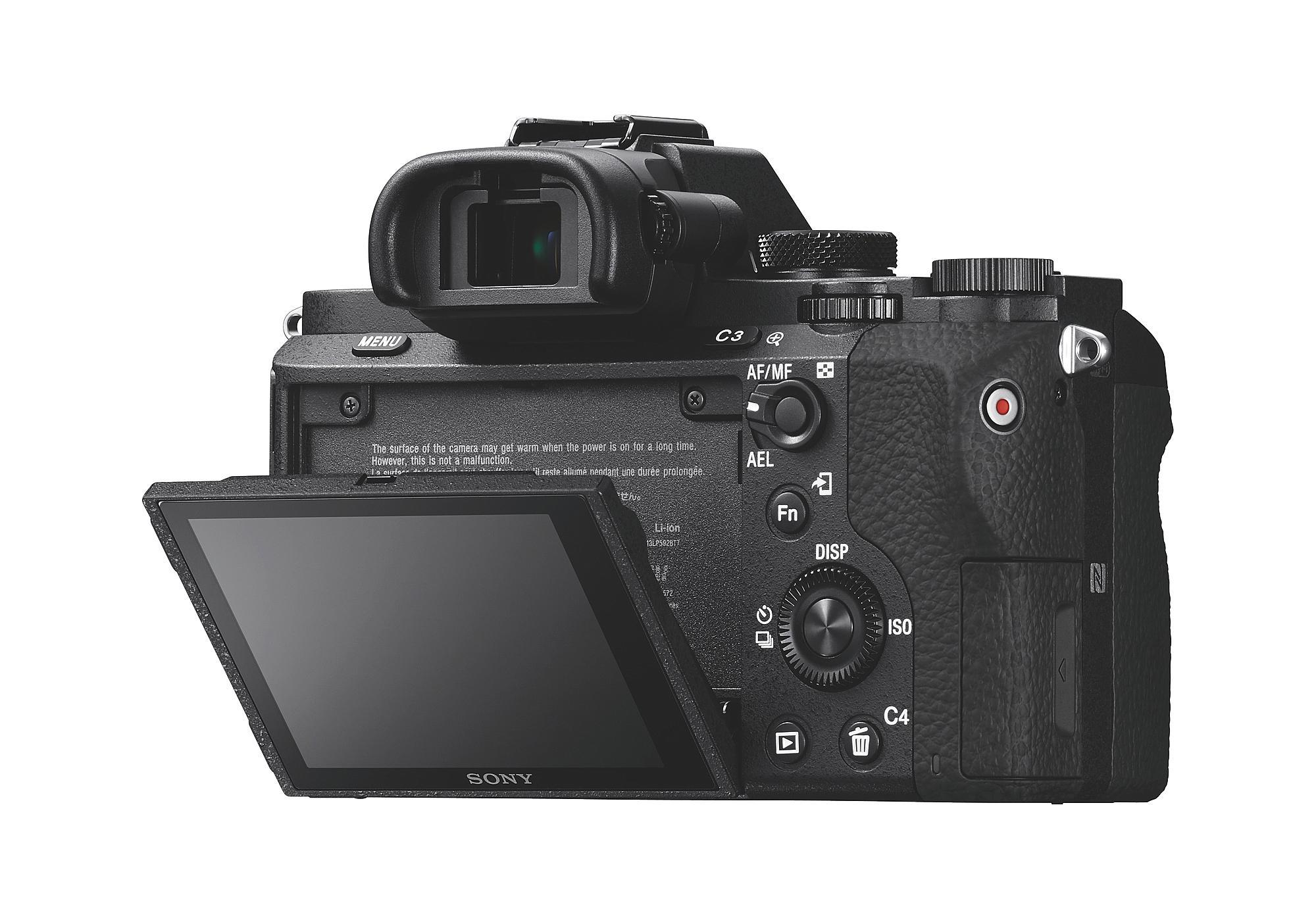 Sony A7 II baksidan.