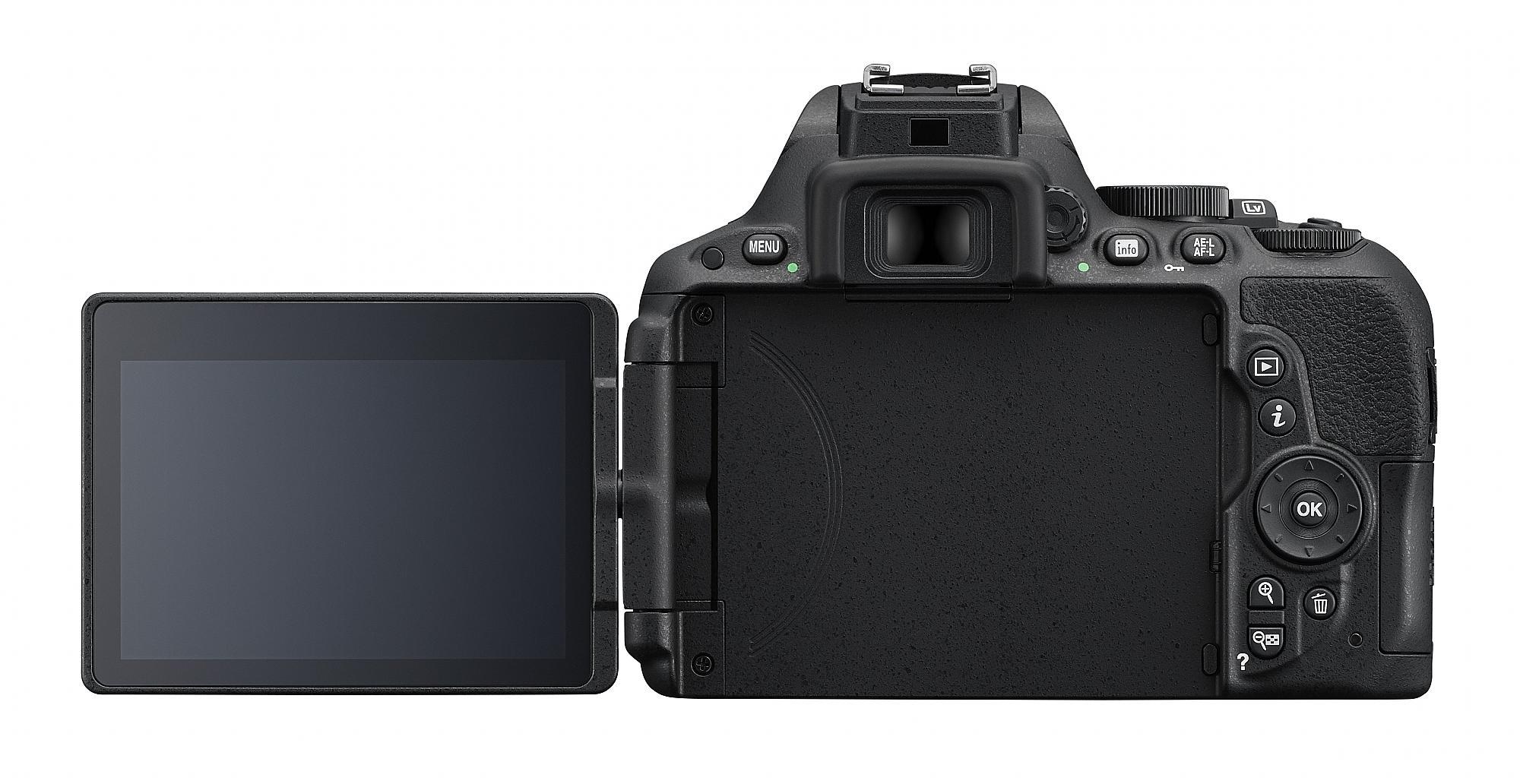 Baksidan av Nikon D5500