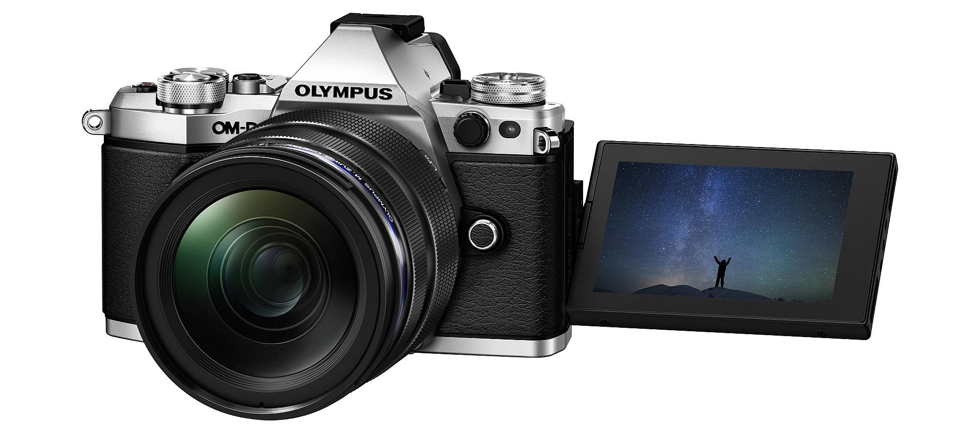Olympus OM-D E-M5 Mark Ii har en fällbar skärm.