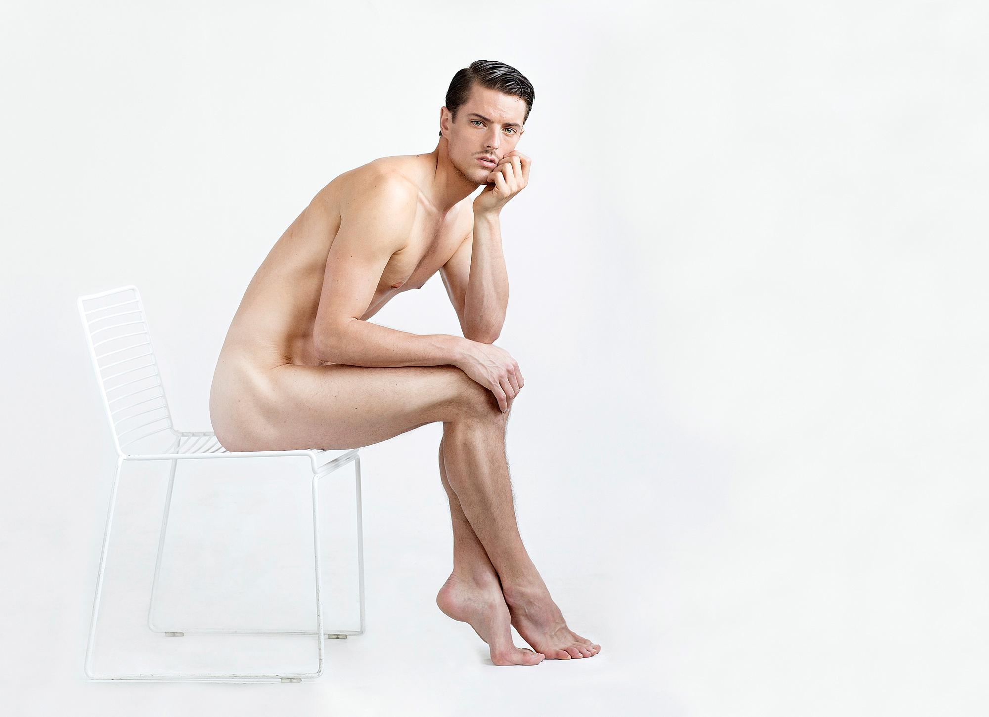naken manliga fitness modell