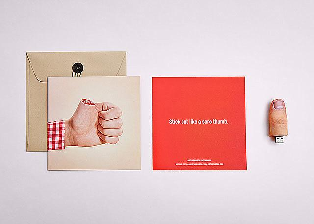 Thumb in the mail by Justin Poulsen