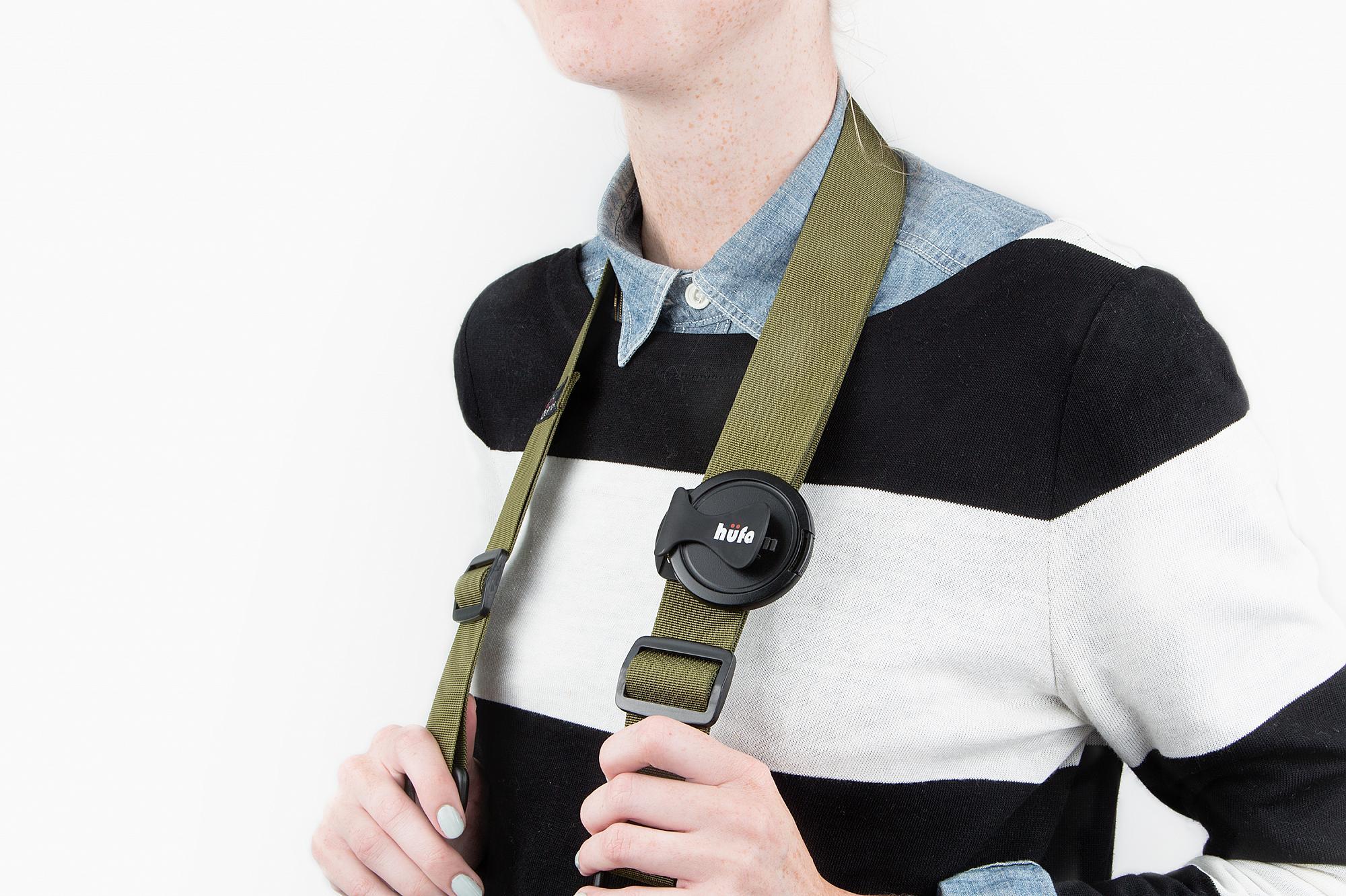 spänne till kameraremmen som håller reda på ditt linslock