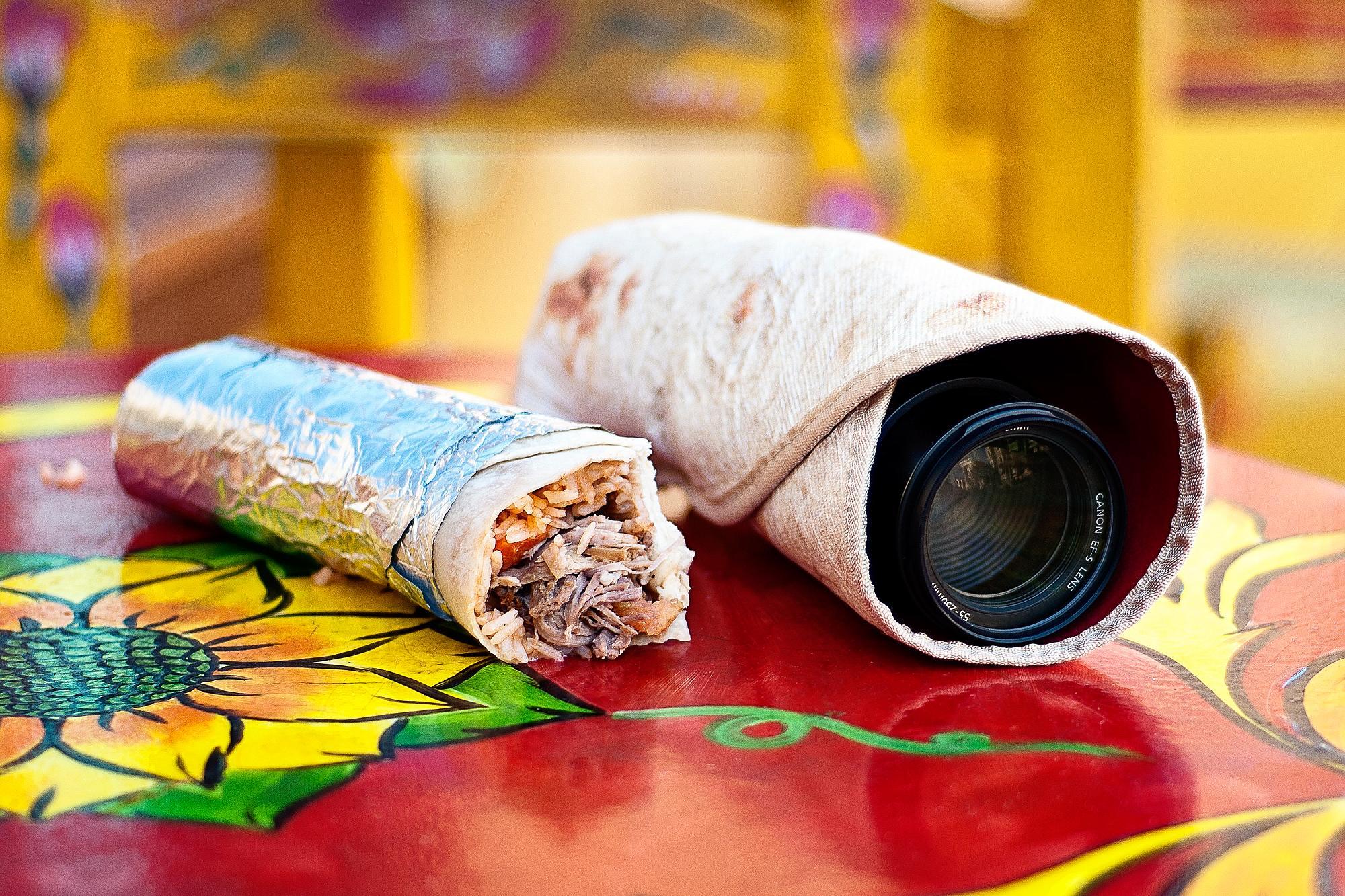 Linsförvaring i form av en burrito
