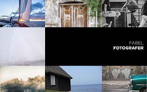 Collage med naturfoto, gatufoto, arkitektur