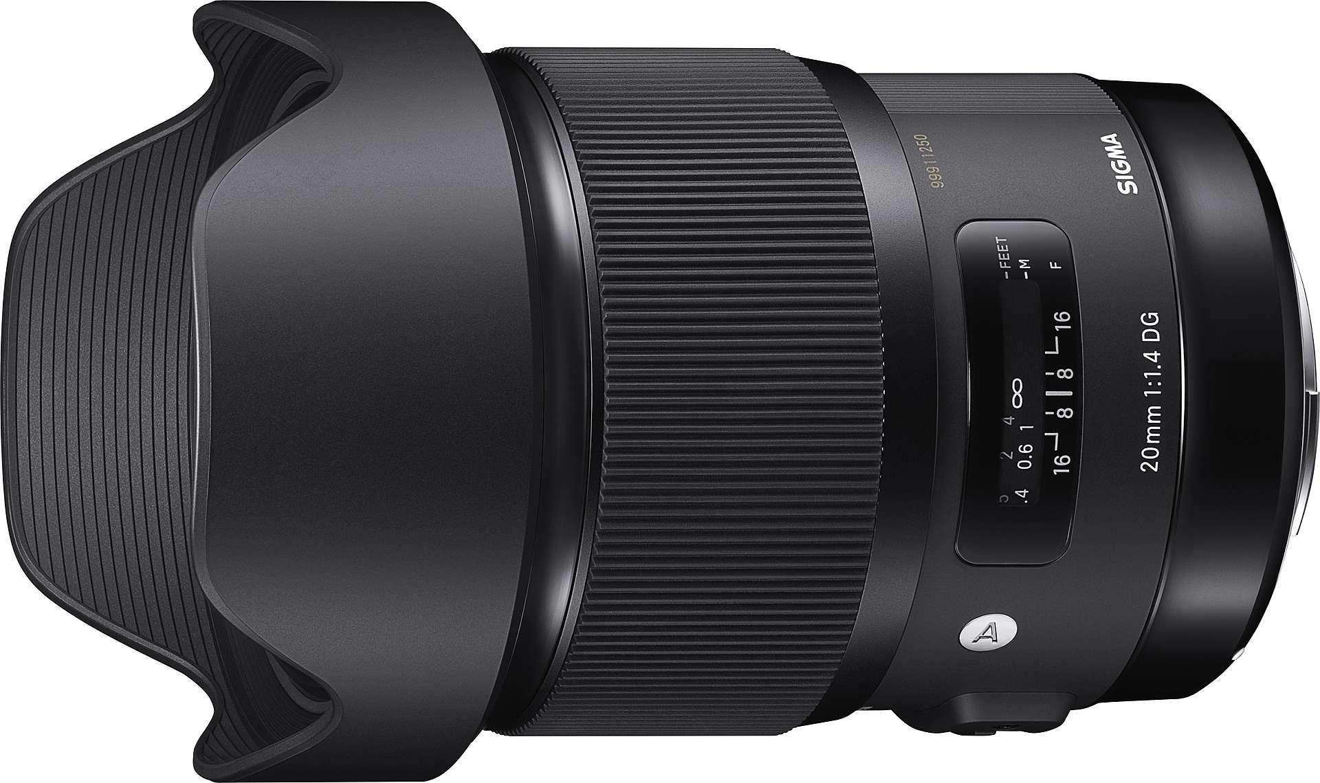 SIGMA 20mm F1.4 GD HSM A | Art mot vit bakgrund