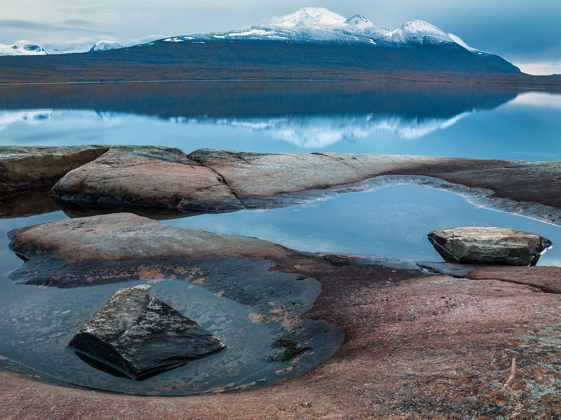 Stora Sjöfallets nationalpark i Lappland.