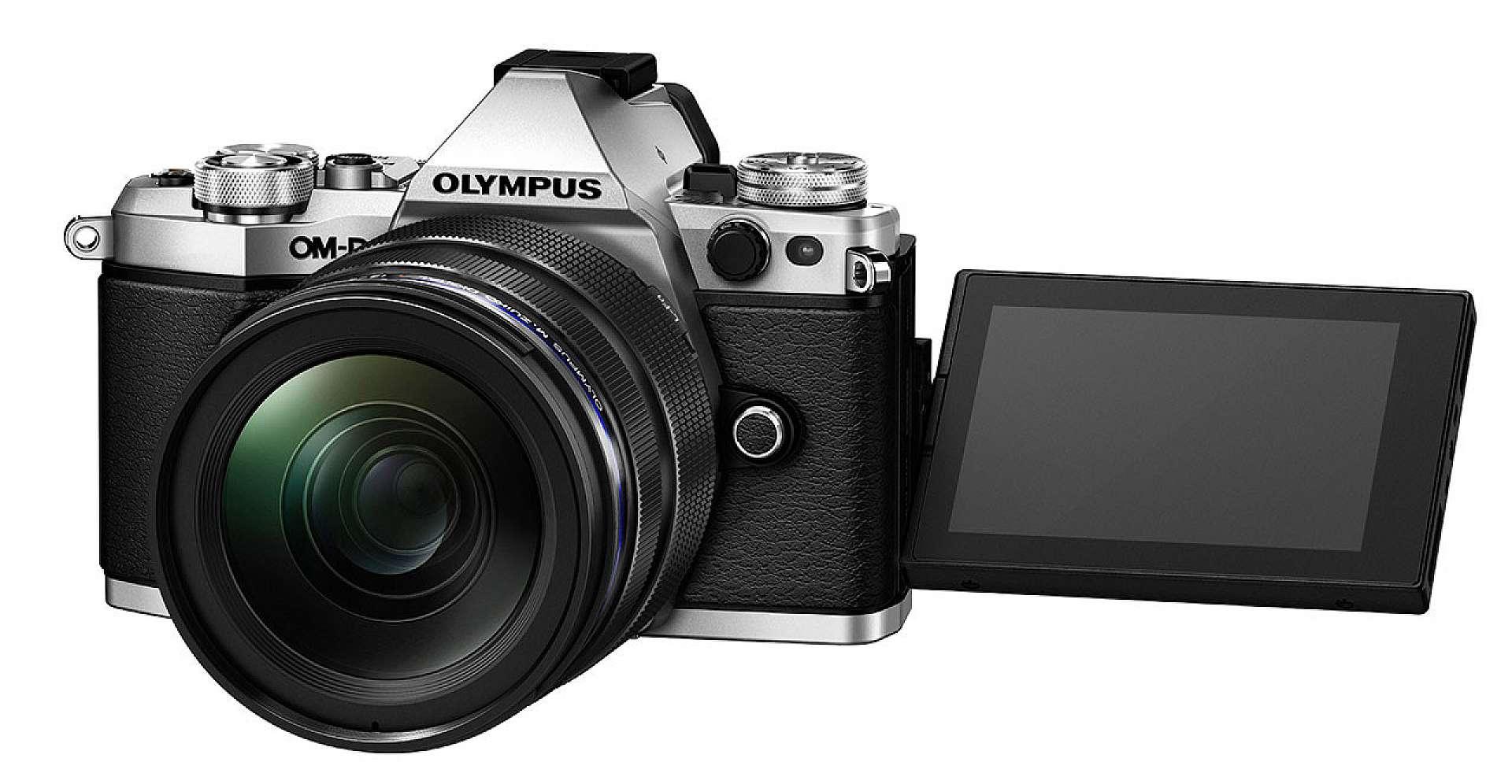 En kamera med vridbar pekskärm