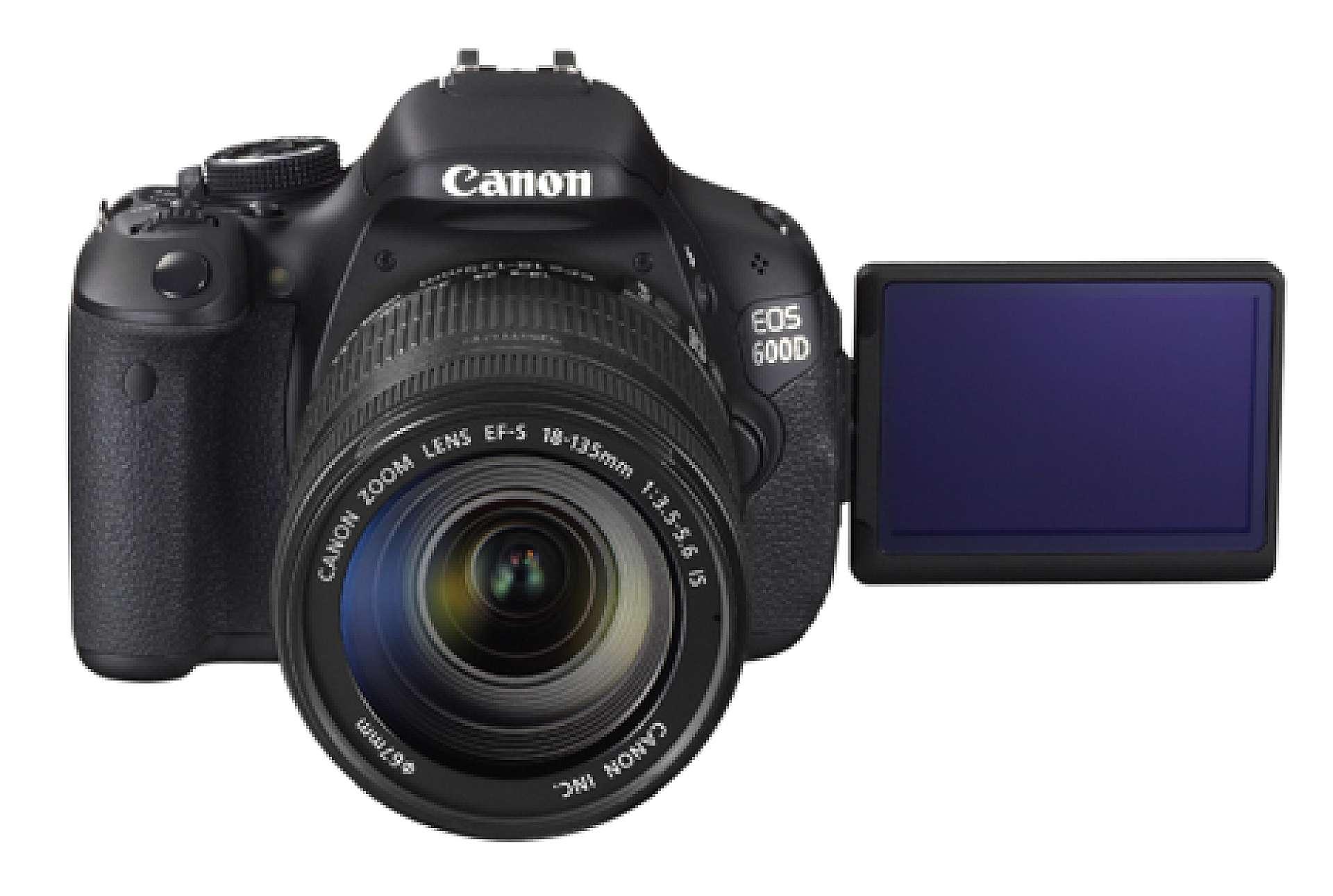 canon eos 600d f r vinkelbar sk rm kamera bild. Black Bedroom Furniture Sets. Home Design Ideas