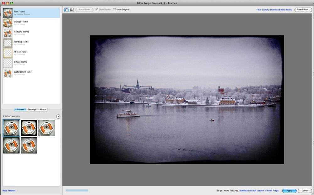 Gratis ramfilter till Photoshop | Kamera & Bild