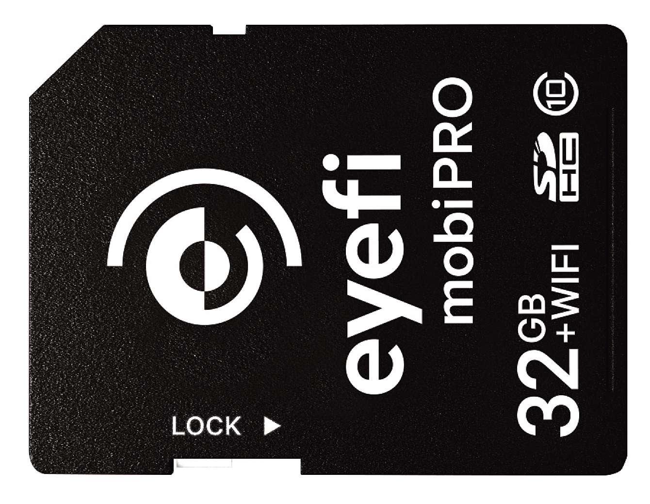 Eyefis nya minneskort mobi pro med trådlös överföring för råfiler.