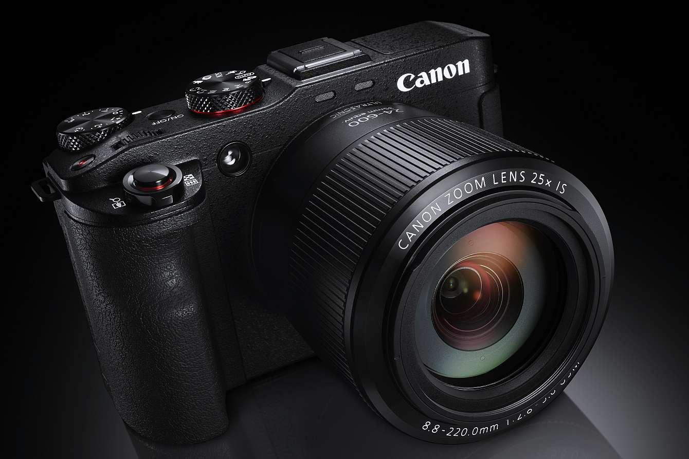 Bild på kamera med mörk bakgrund