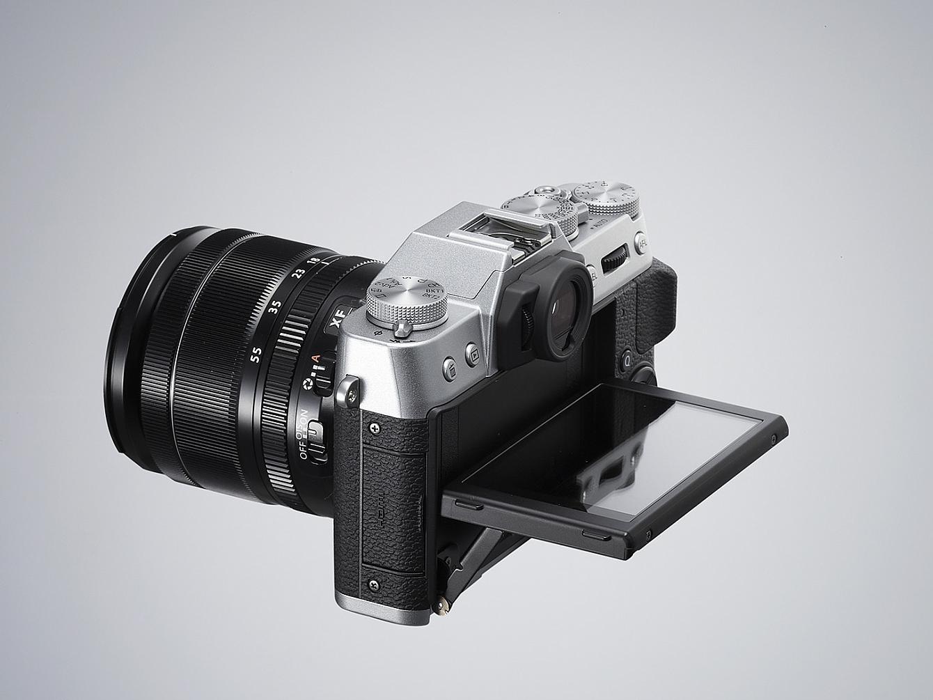 Fujifilm X-T10 bakifrån