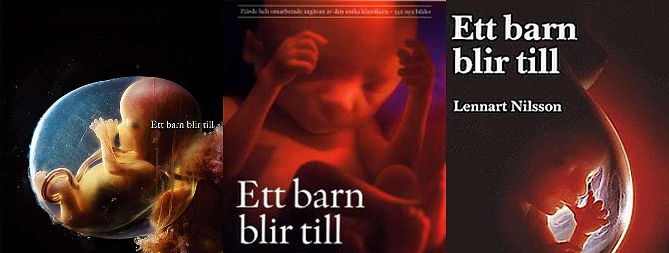 omslagsbilder från Lennart Nilssons bok ett barn blir till