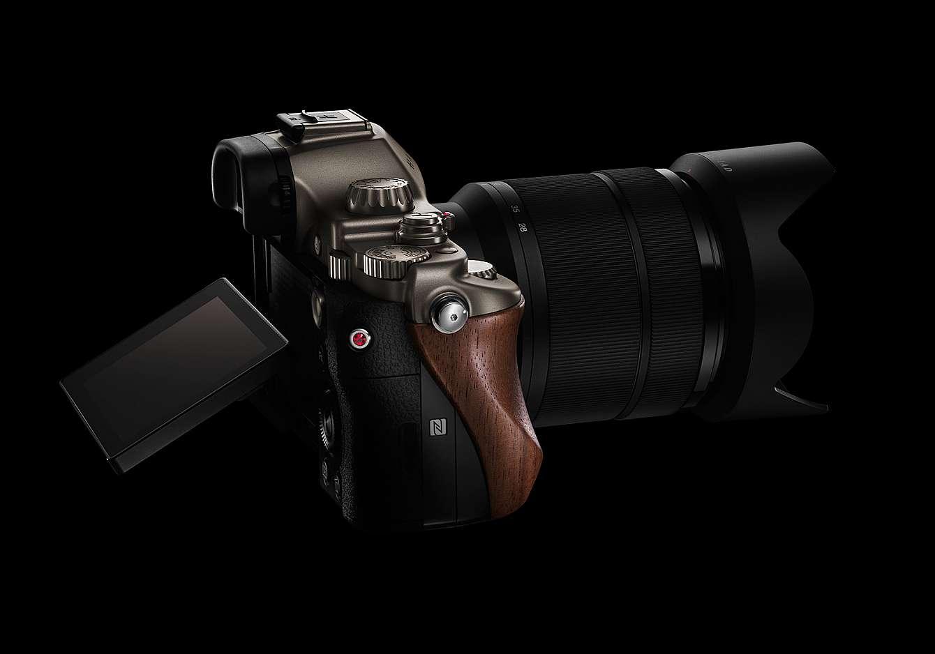 En mörk bild på en kamera