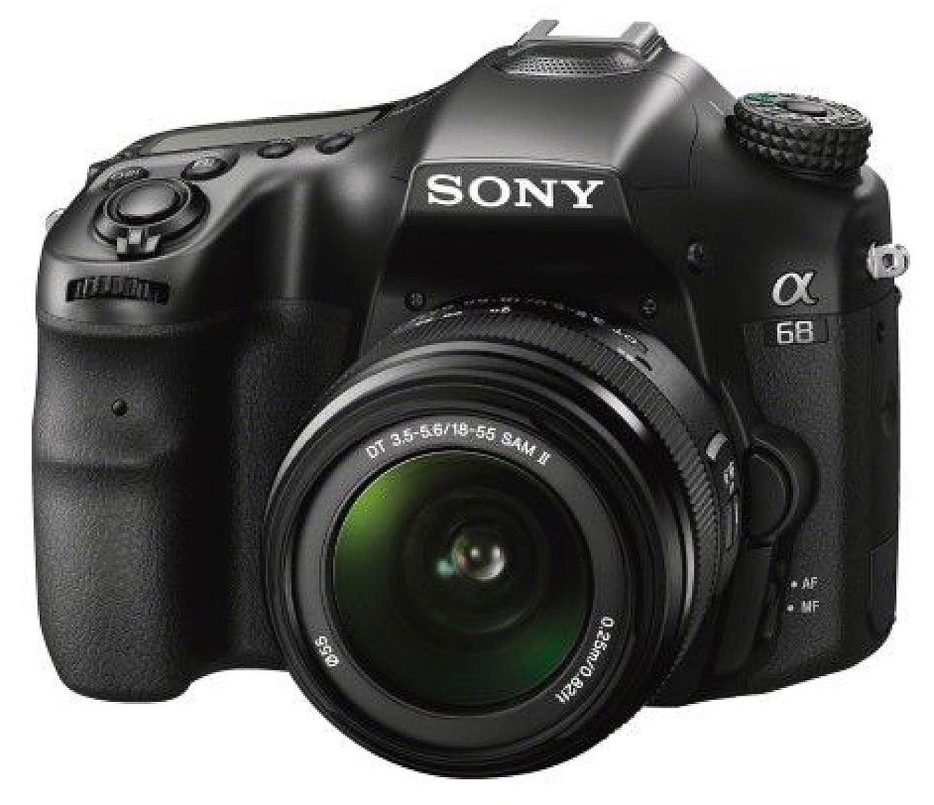 Den nya systemkameran Sony a68.